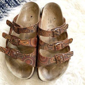 Papillio Birkenstock's slip on 3 strap sandal shoe